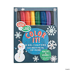 8-Color Gibby & Libby™ Christmas Gel Crayons
