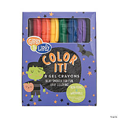 8-Color Gibby & Libby™ Halloween Gel Crayons