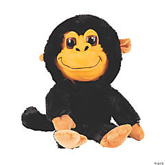 """8"""" Goofy Stuffed Monkey with Realistic Face"""