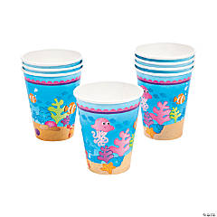 8 Mermaid Party Cups