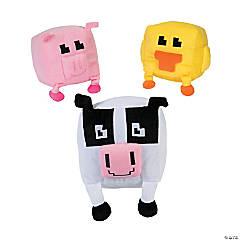 "8"" Pixel Stuffed Animals"