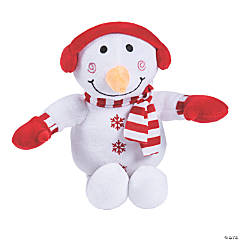"8"" Plush Snowman with Earmuffs"