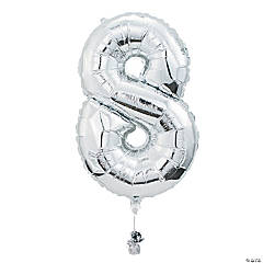 """8"" Shaped Mylar Number Balloon"