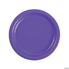 "9"" Amethyst Paper Dinner Plates - 24 Ct."