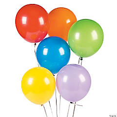 """9"" ASSORTED COLORS LATEX BALLOONS(48PC"