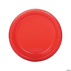 "9"" Coral Plastic Dinner Plates - 20 Ct."
