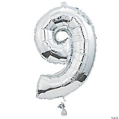 """9"" Shaped Mylar Number Balloon"