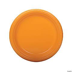 "9"" Yellow Plastic Dinner Plates - 20 Ct."