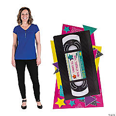 90s VHS Tape Cardboard Stand-Up