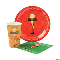 A Christmas Story™ Party Tableware Pack for 20 Guests