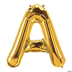 A Gold Letter Mylar Balloon