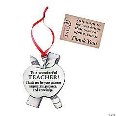 A Wonderful Teacher Ornament with Tag