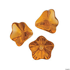 Acrylic Amber Tulip Beads - 9mm