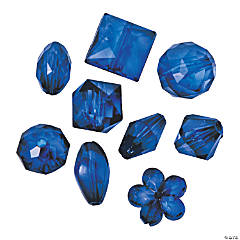 Acrylic Blue Bead Assortment