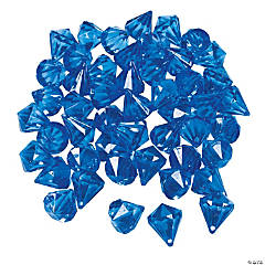 Acrylic Diamond-Shaped Blue Gems