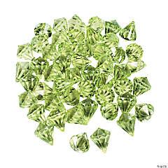 Acrylic Diamond-Shaped Lime Green Gems
