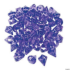 Acrylic Diamond-Shaped Purple Gems