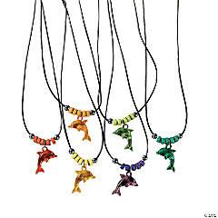 Acrylic Dolphin Necklaces