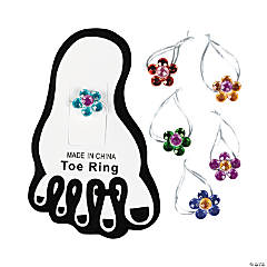 Acrylic Flower Toe Rings