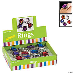 Acrylic Jumbo Rhinestone Rings