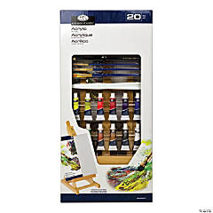 Acrylic Paint Art Kit with Easel - Set of 20