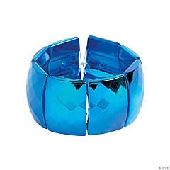 Acrylic Rectangle Metallic Blue Bracelet Craft Kit
