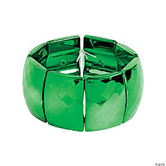 Acrylic Rectangle Metallic Green Bracelet Craft Kit