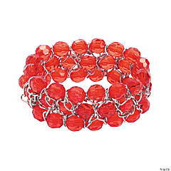 Acrylic Red Chain Bracelet Craft Kit