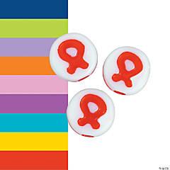 Acrylic Ribbon Beads - 8mm