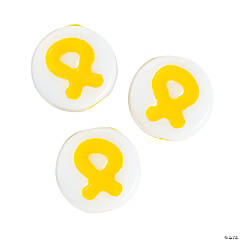 Acrylic Yellow Ribbon Beads - 8mm