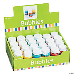 Action-Packed Bubble Bottles - 24 Pc.
