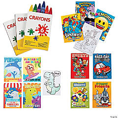 Activity Book Assortment with Crayons