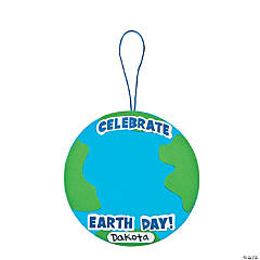 Adhesive Foam Earth Day Globe Handprint Craft Kit