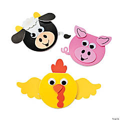 Adhesive Foam Farm Animal Notebook Craft Kit