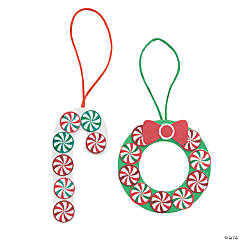 Adhesive Foam Peppermint Candies Christmas Ornament Craft Kit