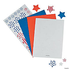 Adhesive Patriotic Star Shapes