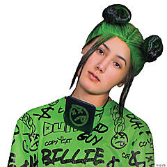 Adult Billie Eilish Double Bun Wig