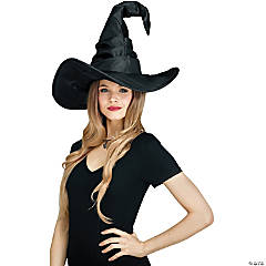 Adult Black Curved Cone Witch Hat