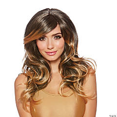 Adult Brown Layered Wig