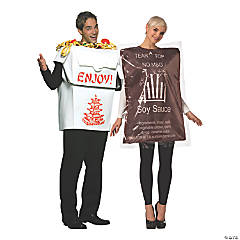 Adult Chinese Food Takeout Couple Costumes