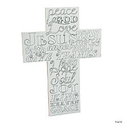 Adult Coloring Cross Sign