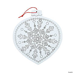 Adult Coloring Snowflake Sign