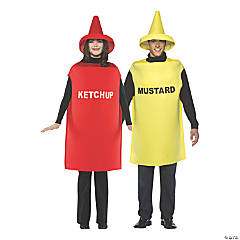 Adult Ketchup and Mustard Couple Costumes