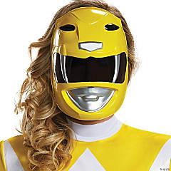 Adult Mighty Morphin Power Ranger Yellow Ranger Mask