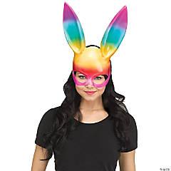 Adult Rainbow Bunny Mask