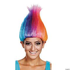 Adult Rainbow Colored Licensed Troll Wig