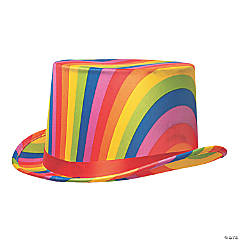 Adult Rainbow Top Hat
