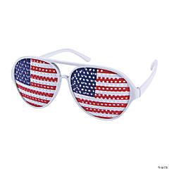 Adult's Aviator American Flag Pinhole Glasses