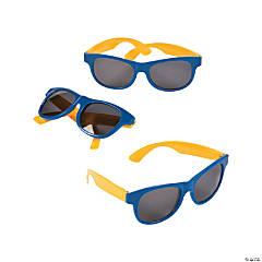 75ef1ea3df30 Adult s Blue   Gold Two-Tone Sunglasses - 12 ...