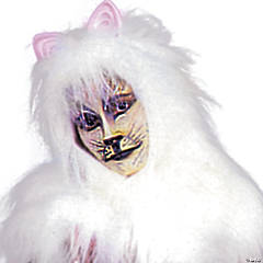 Adult's Cat Costume - White Accessory Pack
